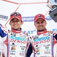 2016/05/04 SUPER GT 第2戦 FUJI GT 500km RACE コバライネン/平手組LEXUS RC Fが2位、ロシター/平川組が3位表彰台 後方スタートの36号車、6号車も追い上げ4位、5位入賞