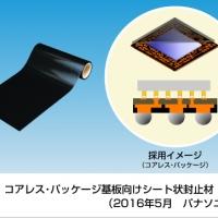 2016/05/26 コアレス・パッケージ基板向けシート状封止材を製品化